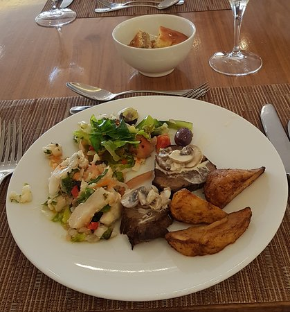 Thai fish salad is incredibly tasty, as well as beef with mushroom sauce