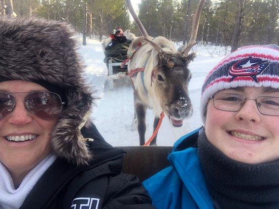 Nuorgam, Suomi: Reindeer farm visit