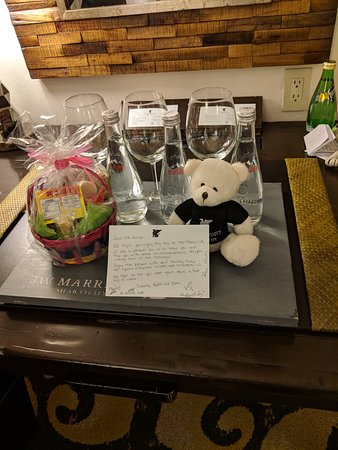 Farewell gift basket from the health club staff