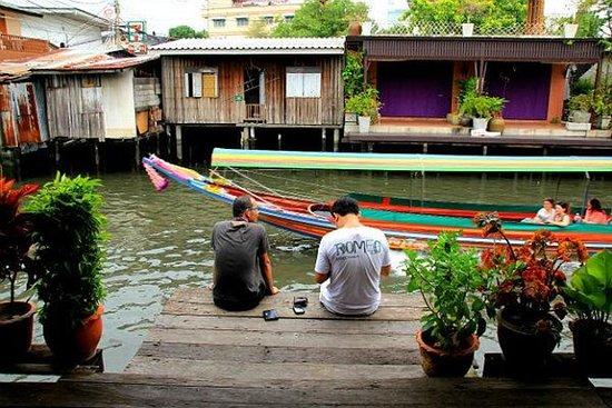 曼谷运河之旅乘船和自行车