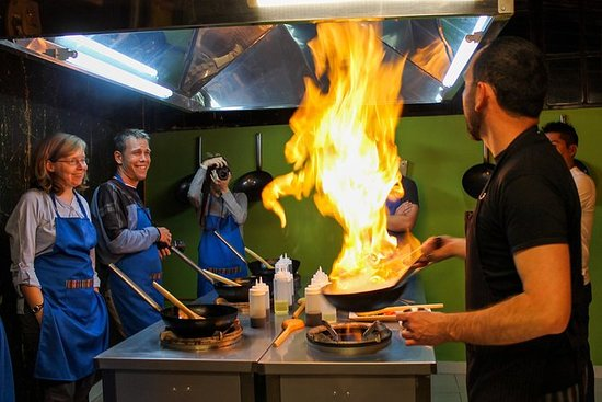 Gruppe Cooking Class på Marcelo...