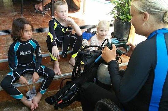 10岁及以上儿童在长滩岛体验水肺潜水