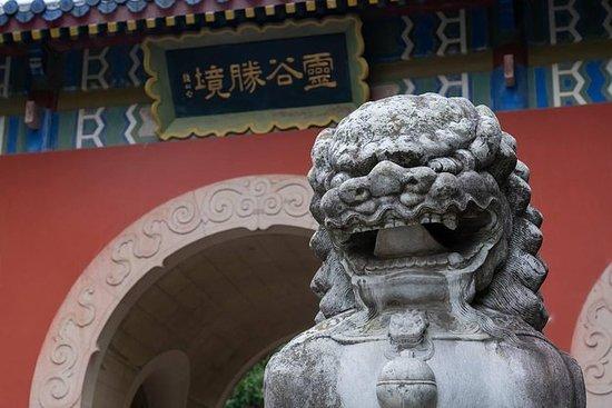 南京紫金山旅游与索道骑和灵谷寺茶时间