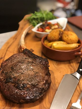 Stanford-Le-Hope, UK: 20oz Tomahawk steak cooked to perfection