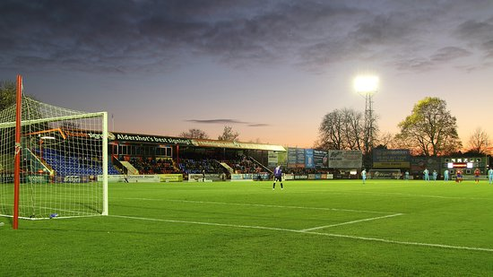 Aldershot Town FC: View from the East Bank, looking at the South Stand