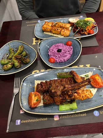 Windsor and Maidenhead, UK: Mixed Grill and Chicken Shish
