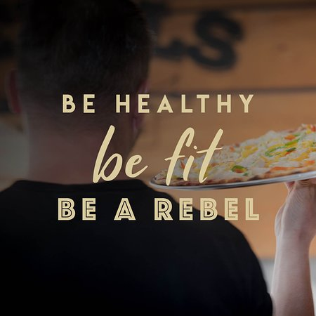 Rebels House Pizzeria & Pancakes: A healthy lifestyle is all about balance. Our pizzas are made on the wholemeal base and we also offer vegan, vegetarian options.