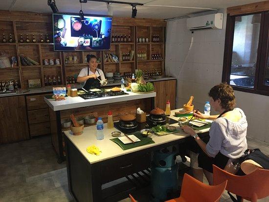 Cookery school classroom