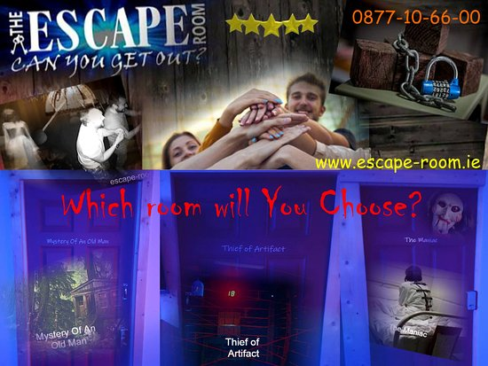 Escape Room Games in Killarney ? Three room's / each of them has 2 levels of difficulty www.escape-room.ie Open: 24/7 Free Car Park mobile:0877106600 NOBODY HAS MADE A ROOM YES WITHOUT HINTS!!! WILL YOU BE FIRST ?
