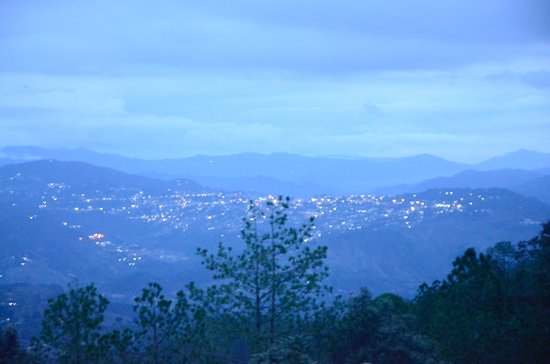 View of Almora town from the room.