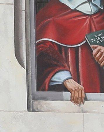 En fait j'ai préféré cette fresque de Dôle qui est ancienne par rapport à celle de Saint Amour.