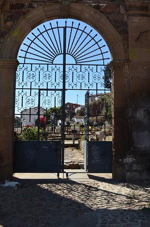 Cemetery where day of the dead festivities are held