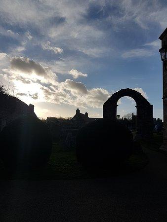 Coldingham Priory: sunset
