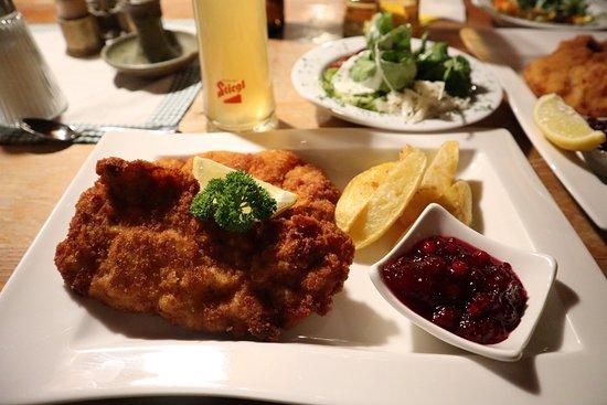 Jausenstation Schauphof : Wiener Schnitzel vom Schwein