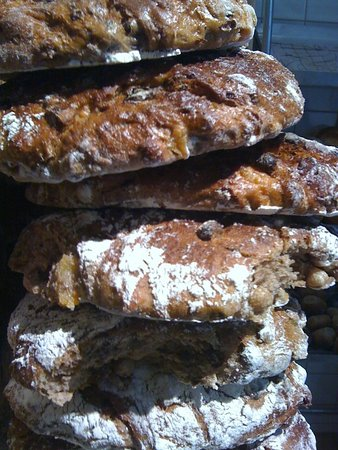 Bread Angels: A stack of fruit and nut bread