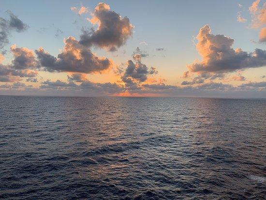 Texas: Sunset at sea