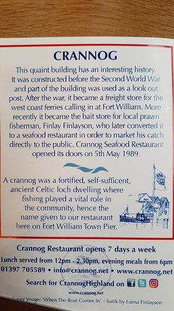 Crannog Seafood Restaurant: Information about the Crannog Restaurant