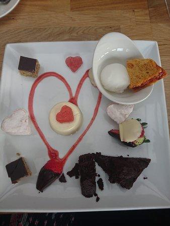 Crannog Seafood Restaurant: Valentine's dessert platter (delicious!)