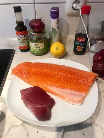 Saibling und Thunfisch, perfekt für fisch Friakdelle