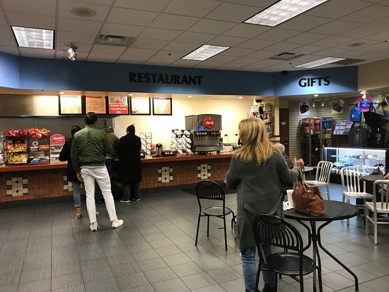 Albuquerque's Alvarado Travel Center - View of the Snack Bar/Gift Area serving both Amtrak and Greyhound passengers.  December 2018.