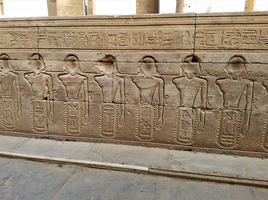 Arms of the enemy have been cut off, they want fight again at Kom Ombo Temple.