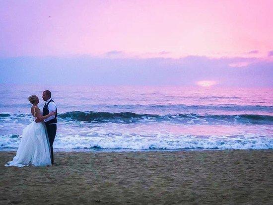 Our Sunset Beach Wedding Reception Was