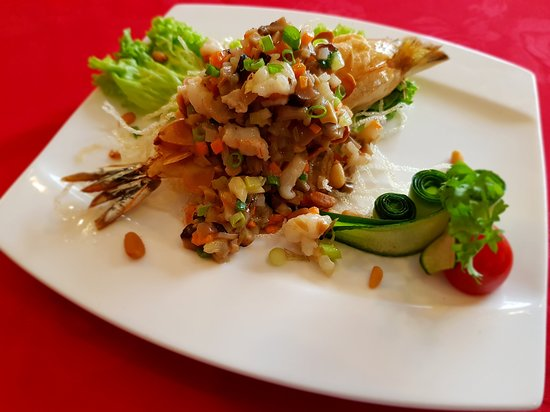 Signature - Stir Fried Assorted Vegetables with Ming Prawn