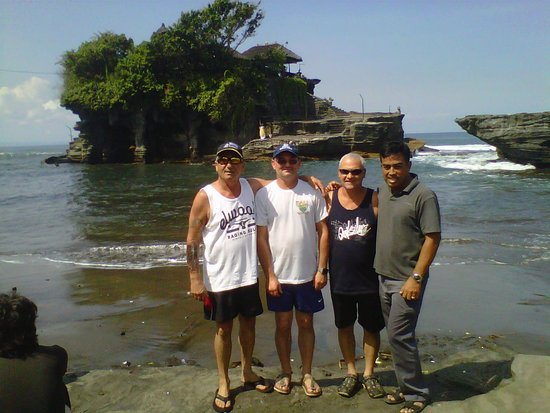 Tanah Lot Temple with my 3 brothers