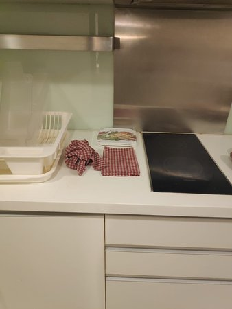 Kitchen with dirty and smelling unwashed cleaning cloth.