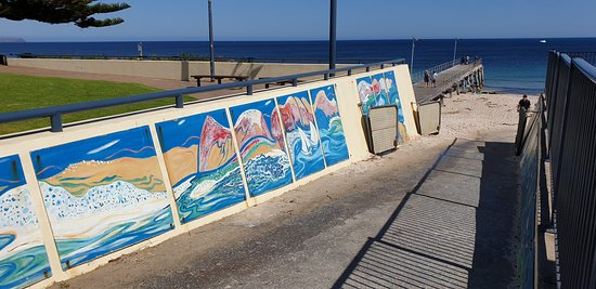 Normanville Kiosk & Cafe: Normanville Kiosk and Cafe artwork on access to jetty