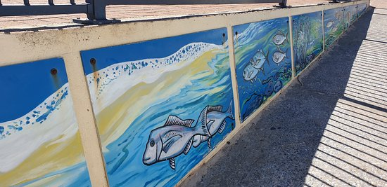 Normanville Kiosk & Cafe: Normanville Kiosk and Cafe nore artwork on access to jetty
