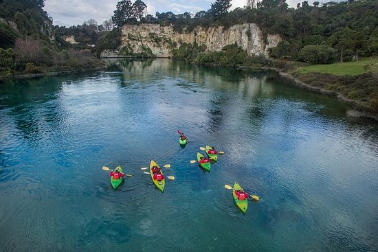 从陶波出发的2小时怀卡托河导游皮划艇之旅