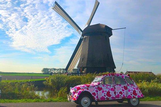 オールド・オランダを2CV車でお楽しみください。座ってリラックスしてください!