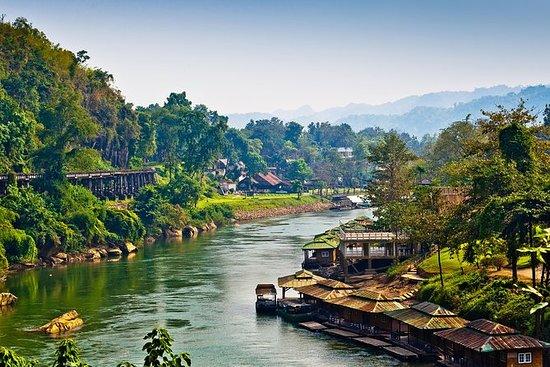 從曼谷出發的3日桂河之旅:叢林筏,水上市場和大城府,