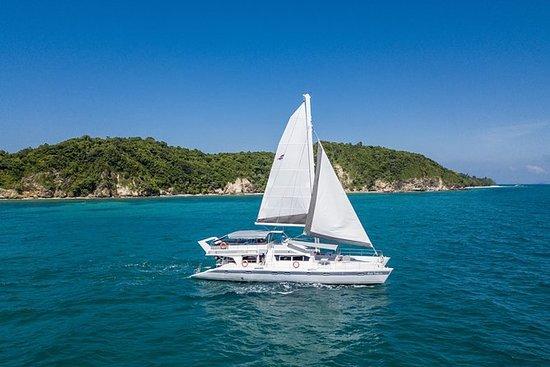 太阳的风Racha和Maithon岛一日游由双体船与浮潜