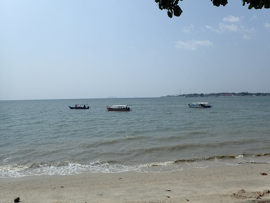 Passenger boats.