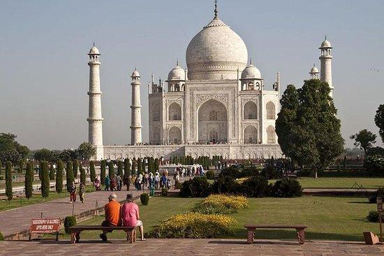 Tour privé du Taj Mahal en train de...