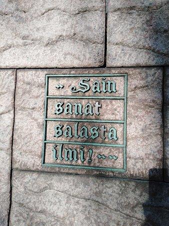 Elias Lonnrot Monument: Got the words out of secret