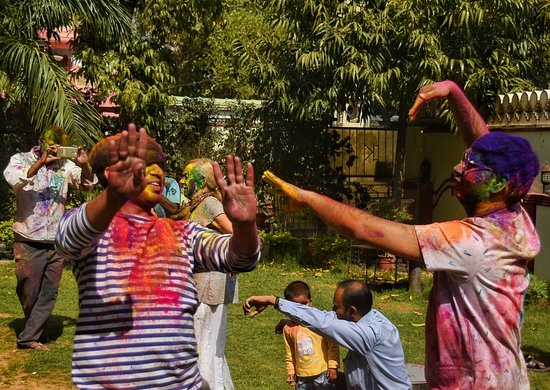 Holi party at Krishna Palace