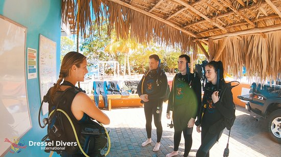 PADI Oplev Scuba Diving i Montego Bay: Preparing for our dive with Romy.