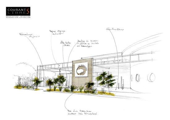 Restaurant Les Terrasses Guérande: Projet architecte rénovation