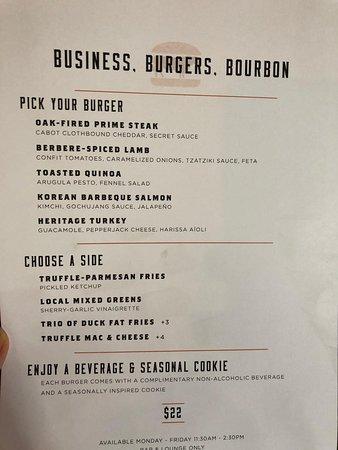 lunch menu - Picture of Bourbon Steak, Washington DC