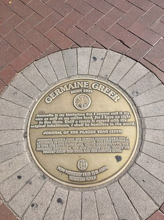 Germaine Greer has a plaque