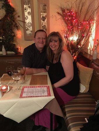 Shirley & Steve having Christmas dinner