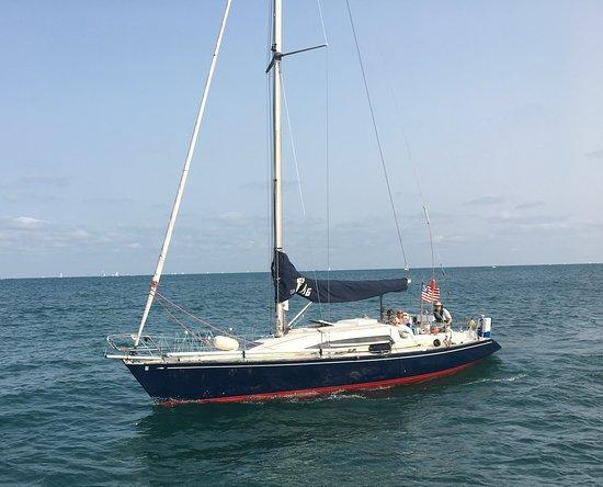 Radiance underway returning to Montrose Harbor