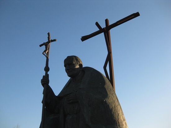 Joao Paulo II: JP II z krzyżem i pod krzyżem