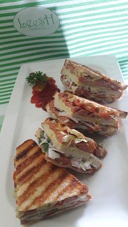 Cheese and Sausage Panini