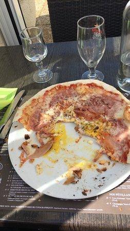 pizza que je n'ai pas pu terminer ce qui n'est généralement pas mon cas