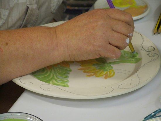 students work Come and paint a pot  cost from £2. + £6.50 for two Painting time that covers the cost of glaze and firing.