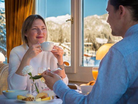 Breakfast at Schweizerhof Flims Waldhaus Belle Epoque Restaurant
